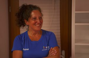 Fatma Keckstein beim Ju-Jutsu Selbstverteidigungskurs für starke Frauen gegen Gewalt