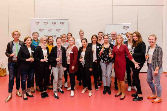 Congress of German Olympic Sports Confederation in Leipzig september 2019 concerning gender equality in sports with launch of platform and network brave stories