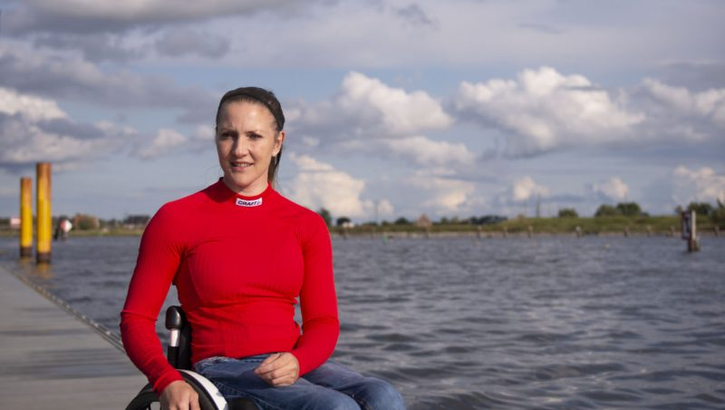 Edina Müller is a Paralympics winner in wheelchair basketball, mother and currently training for paralympics as canoeist at brave stories