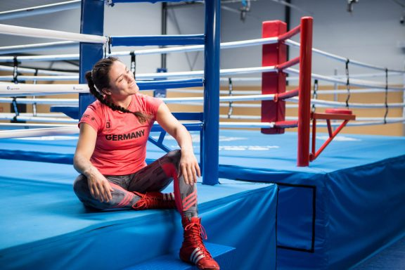 Sarah Scheurich fighter and German box champion coach don't touch me brave stories