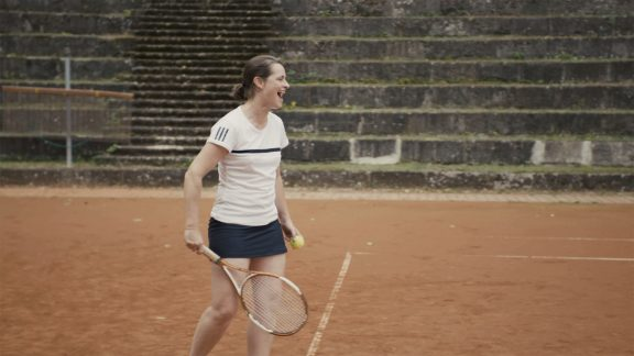 Veronika Rücker ceo German Olympic Sports Confederation at tennis practice brave stories